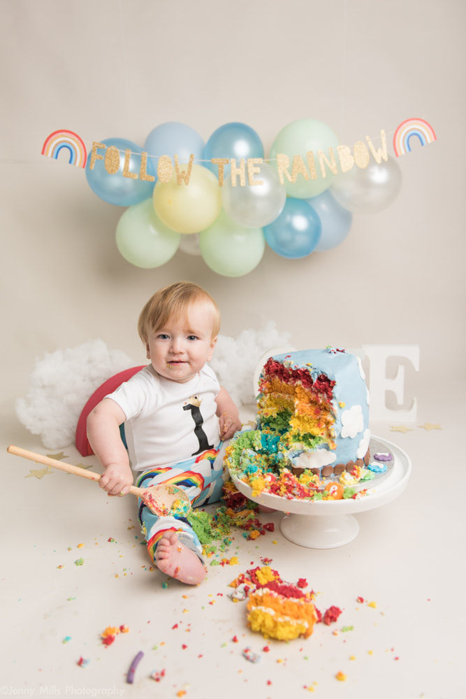 Admirable Cake Smash Session For 1St Birthday In Sheffield Yorkshire Funny Birthday Cards Online Alyptdamsfinfo